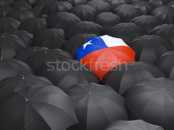 Umbrella with flag of chile Stock photo © MikhailMishchenko