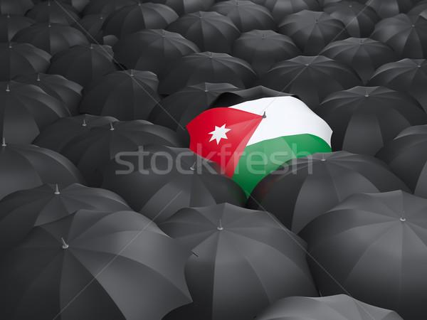Umbrella with flag of jordan Stock photo © MikhailMishchenko