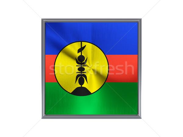 Square metal button with flag of new caledonia Stock photo © MikhailMishchenko