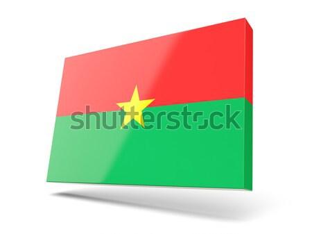 Square sticker with flag of burkina faso Stock photo © MikhailMishchenko