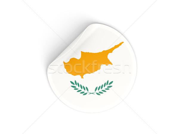 Sticker vlag Cyprus geïsoleerd witte reizen Stockfoto © MikhailMishchenko