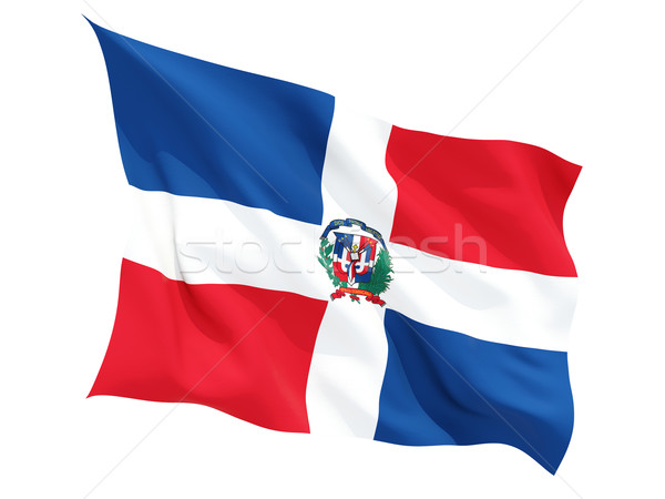 Waving flag of dominican republic Stock photo © MikhailMishchenko
