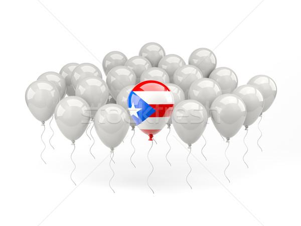 Lucht ballonnen vlag Puerto Rico geïsoleerd witte Stockfoto © MikhailMishchenko