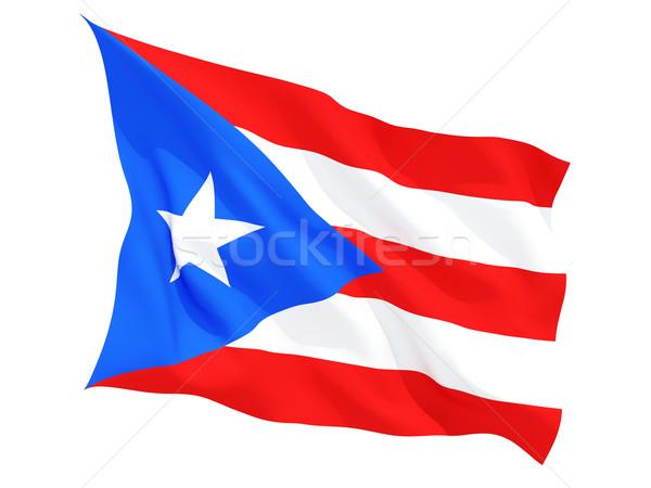 Vlag Puerto Rico geïsoleerd witte Stockfoto © MikhailMishchenko