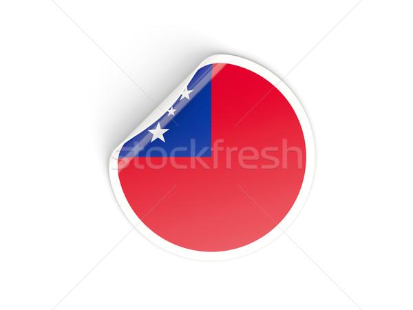 Sticker vlag Samoa geïsoleerd witte reizen Stockfoto © MikhailMishchenko