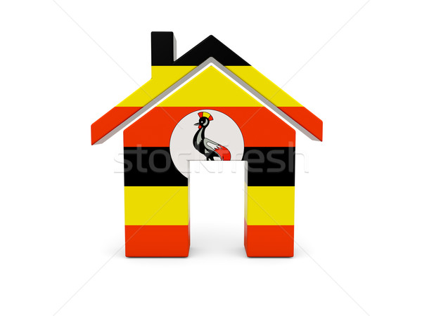 Maison pavillon Ouganda isolé blanche pays Photo stock © MikhailMishchenko