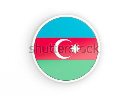 Ikon zászló Azerbajdzsán izolált fehér utazás Stock fotó © MikhailMishchenko