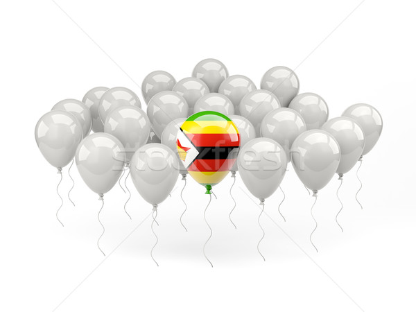 Air ballons pavillon Zimbabwe isolé blanche Photo stock © MikhailMishchenko