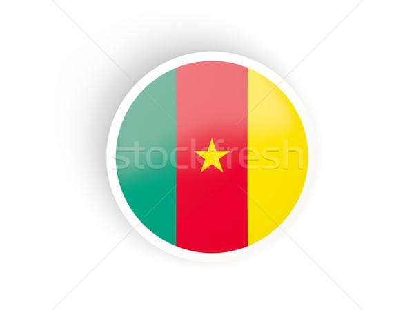 наклейку флаг Камерун изолированный белый путешествия Сток-фото © MikhailMishchenko