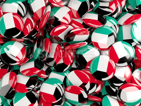 Bandeira Kuweit fundo país pin círculo Foto stock © MikhailMishchenko
