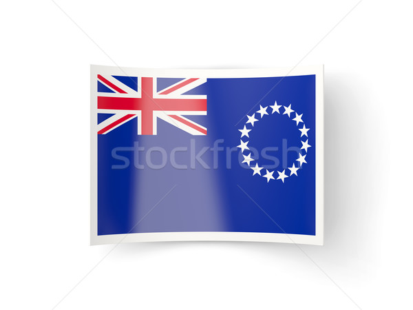 Bent icon with flag of cook islands Stock photo © MikhailMishchenko