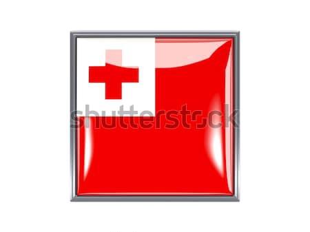 Bent icon with flag of tonga Stock photo © MikhailMishchenko