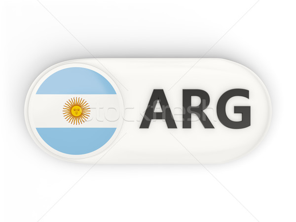 Round icon with flag of argentina Stock photo © MikhailMishchenko