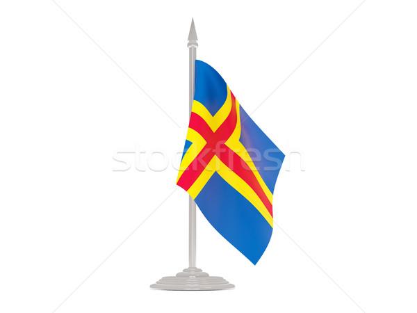 флаг флагшток 3d визуализации изолированный белый Сток-фото © MikhailMishchenko