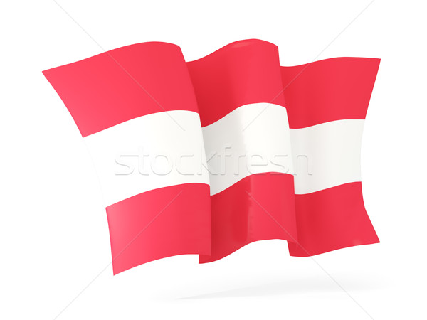 Waving flag of austria. 3D illustration Stock photo © MikhailMishchenko