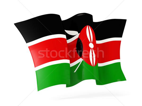 フラグ ケニア 3次元の図 孤立した 白 ストックフォト © MikhailMishchenko