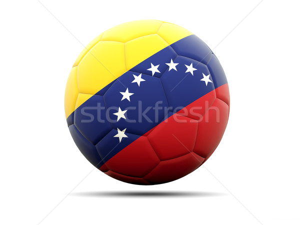 Football with flag of venezuela Stock photo © MikhailMishchenko