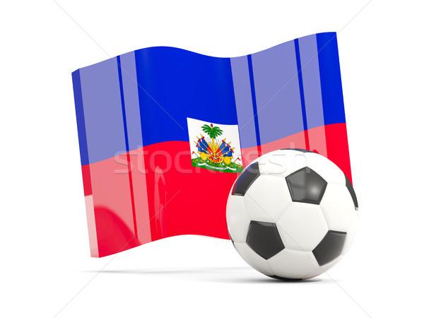 サッカー フラグ 孤立した 白 3次元の図 ストックフォト © MikhailMishchenko