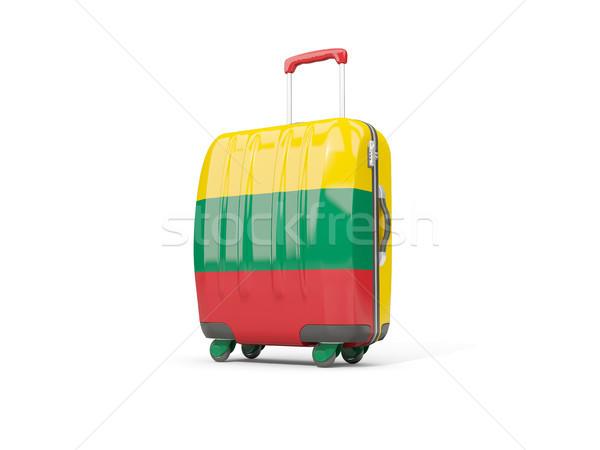 Luggage with flag of lithuania. Suitcase isolated on white Stock photo © MikhailMishchenko