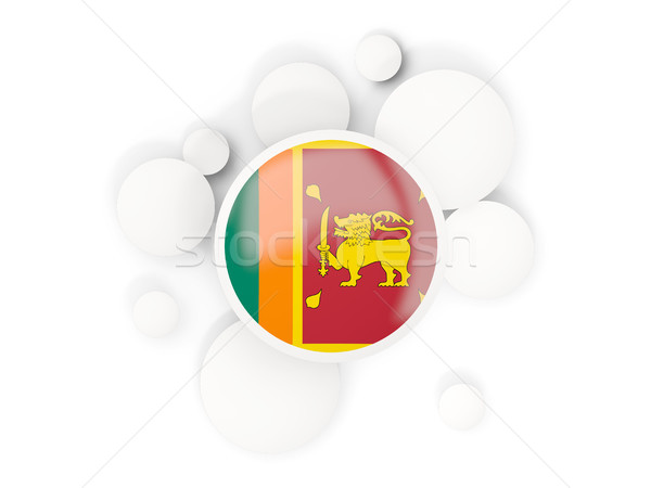 Round flag of sri lanka with circles pattern Stock photo © MikhailMishchenko