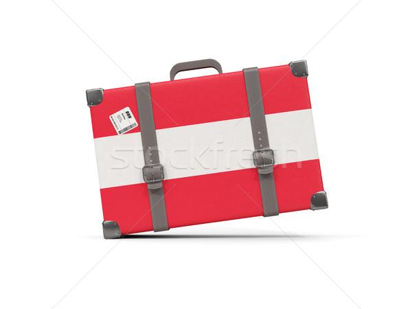 Bagaj bayrak Avusturya bavul yalıtılmış beyaz Stok fotoğraf © MikhailMishchenko
