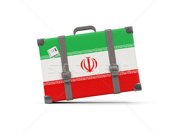 Bagaj bayrak İran bavul yalıtılmış beyaz Stok fotoğraf © MikhailMishchenko