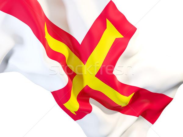 Waving flag of guernsey Stock photo © MikhailMishchenko