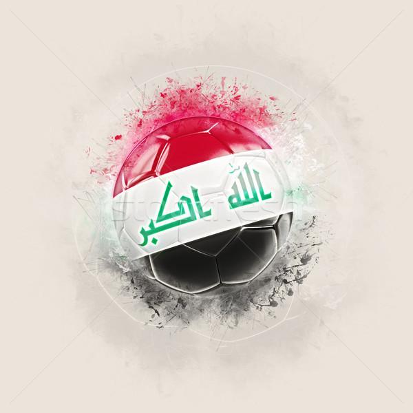 Grunge futbol bayrak Irak 3d illustration dünya Stok fotoğraf © MikhailMishchenko