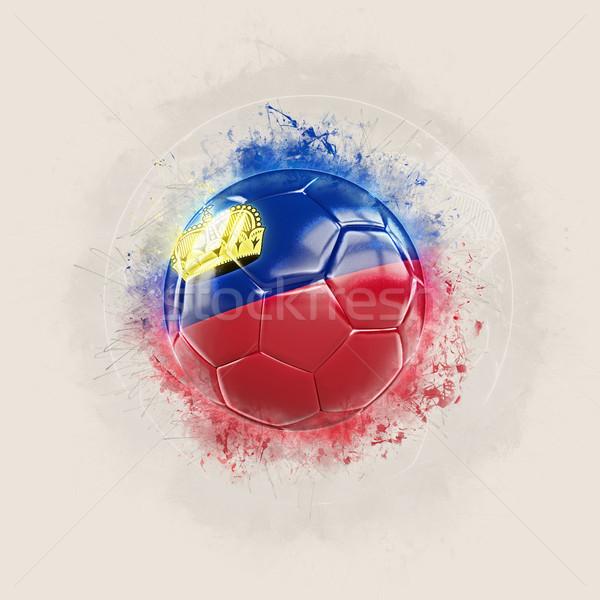 Grunge football with flag of liechtenstein Stock photo © MikhailMishchenko