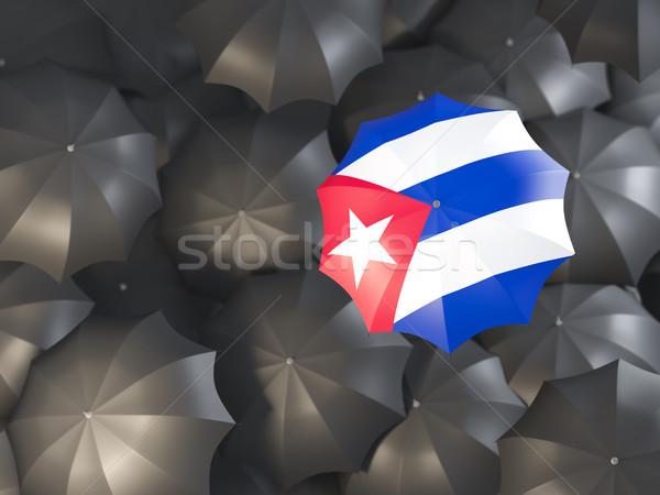 зонтик флаг Куба Top черный Сток-фото © MikhailMishchenko
