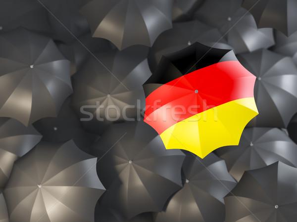 Umbrella with flag of germany Stock photo © MikhailMishchenko