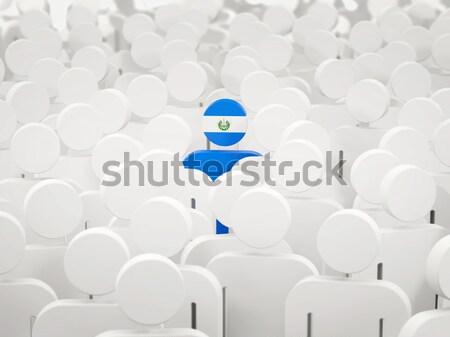 Homme pavillon Argentine foule 3d illustration signe Photo stock © MikhailMishchenko