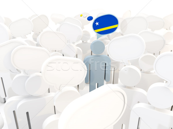 Man with flag of curacao in a crowd Stock photo © MikhailMishchenko