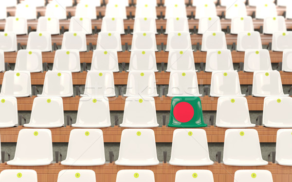 Stadium seat with flag of bangladesh Stock photo © MikhailMishchenko