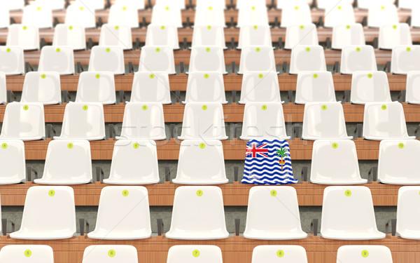 Stadion ülés zászló brit indiai óceán Stock fotó © MikhailMishchenko