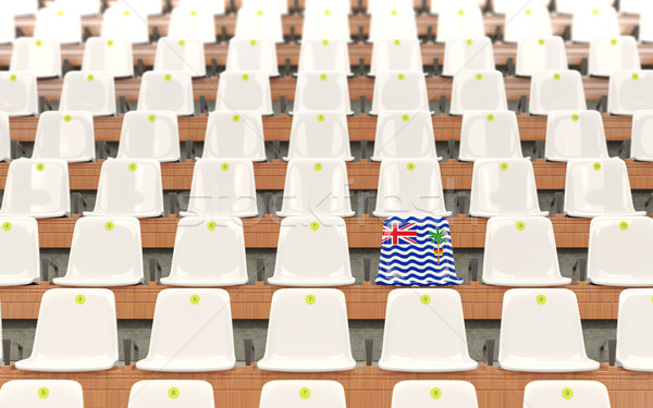 Stadium seat with flag of british indian ocean territory Stock photo © MikhailMishchenko