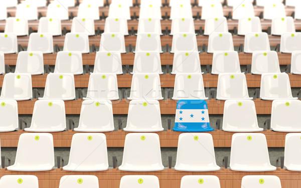 Estádio assento bandeira Honduras branco Foto stock © MikhailMishchenko