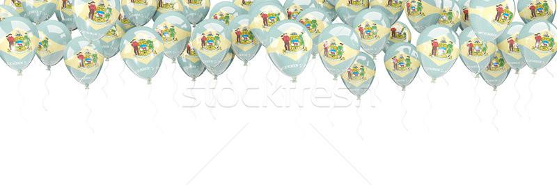 Balonlar çerçeve bayrak Delaware Amerika Birleşik Devletleri yerel Stok fotoğraf © MikhailMishchenko