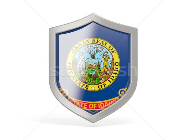 Schild icon vlag Idaho Verenigde Staten lokaal Stockfoto © MikhailMishchenko