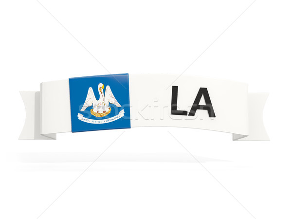 Louisiana bandeira bandeira abreviatura isolado branco Foto stock © MikhailMishchenko
