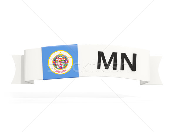 minnesota state flag on banner with postal abbreviation isolated Stock photo © MikhailMishchenko