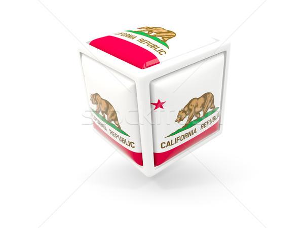 Californie pavillon cube icône États-Unis locale Photo stock © MikhailMishchenko
