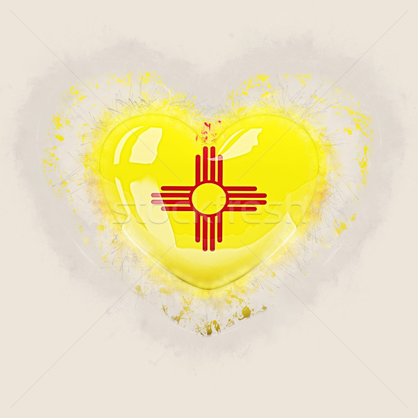 new mexico state flag on a grunge heart. United states local fla Stock photo © MikhailMishchenko