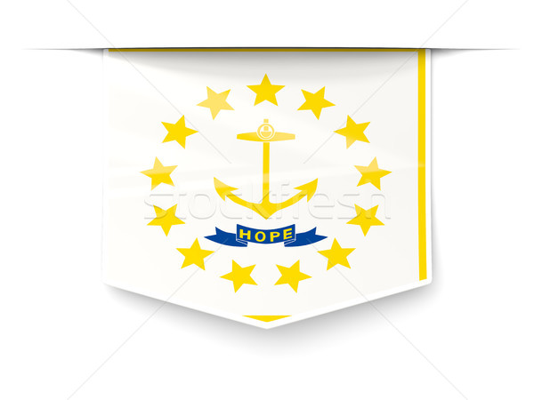 rhode island state flag square label with shadow. United states  Stock photo © MikhailMishchenko