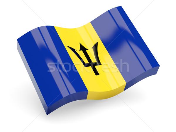 3D bandiera Barbados isolato bianco onda Foto d'archivio © MikhailMishchenko