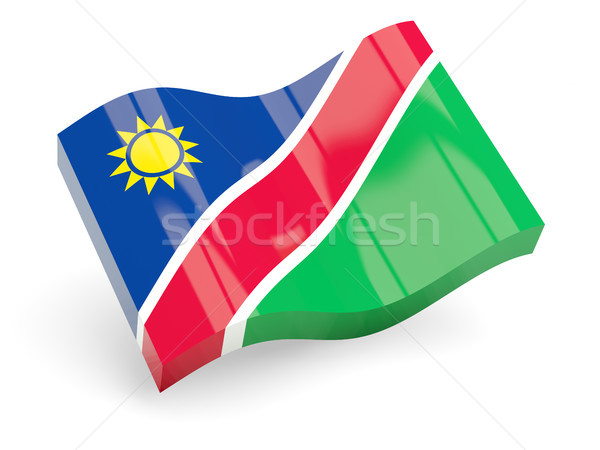 3D bayrak Namibya yalıtılmış beyaz seyahat Stok fotoğraf © MikhailMishchenko