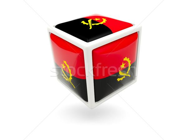 флаг Ангола куб икона изолированный белый Сток-фото © MikhailMishchenko