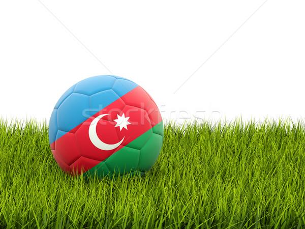 футбола флаг Азербайджан зеленая трава Футбол области Сток-фото © MikhailMishchenko