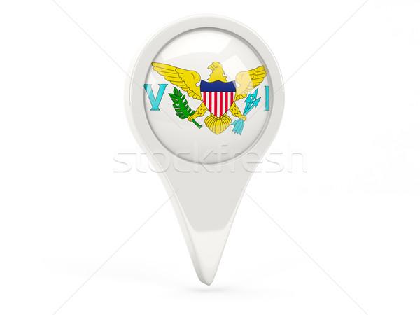 флаг икона Виргинские о-ва изолированный белый карта Сток-фото © MikhailMishchenko