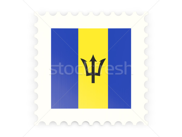 Postage stamp icon of barbados Stock photo © MikhailMishchenko